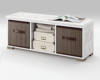 Mueble Auxiliar de almacenaje con Dos cestas para Comedor, salón ...