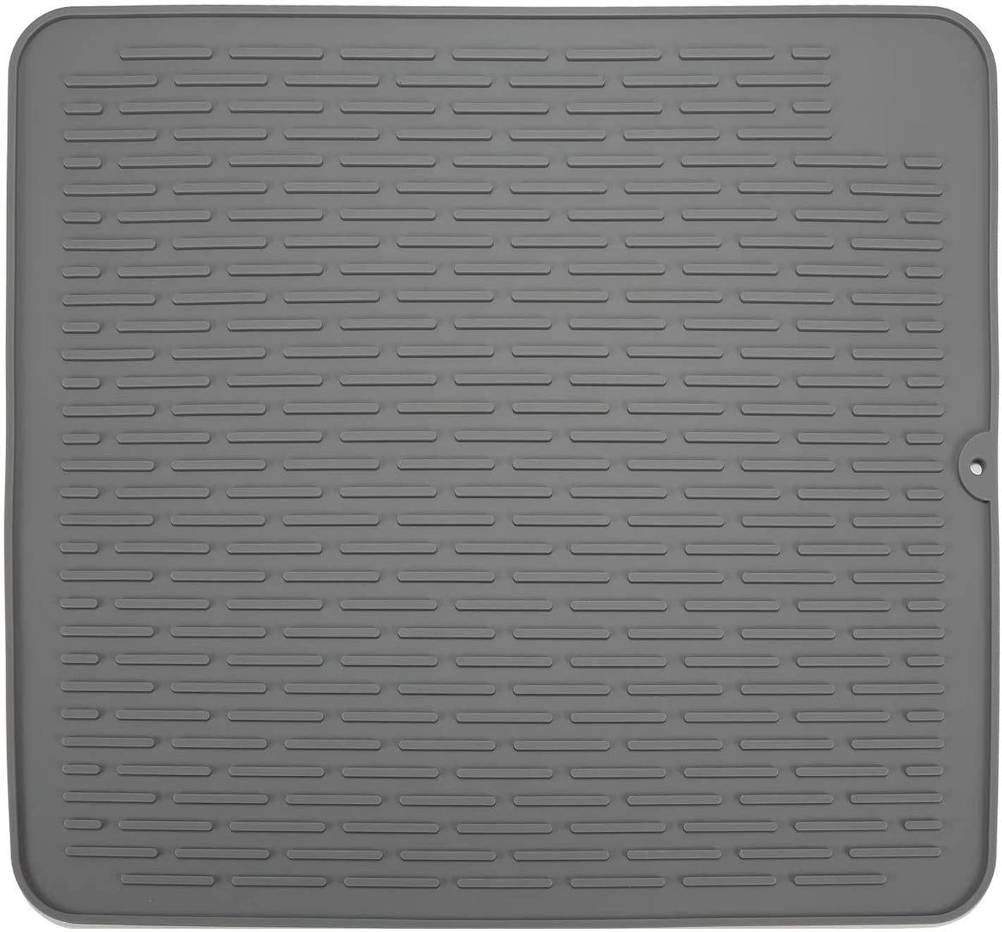 """Extra Large Super Size 23"""" x 18"""" Silicone Dish Drying Mat,Heat Resistant Trivet ,Kitchen Sink Organizer, Premium Countertop Mat, Easy Clean&Dish Washer Safe(Grey)"""