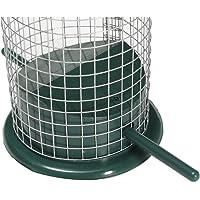 PinShang Outdoor Garden Wire Mesh Tube Feeder Portable Bird Feeder with Convenient Hanger