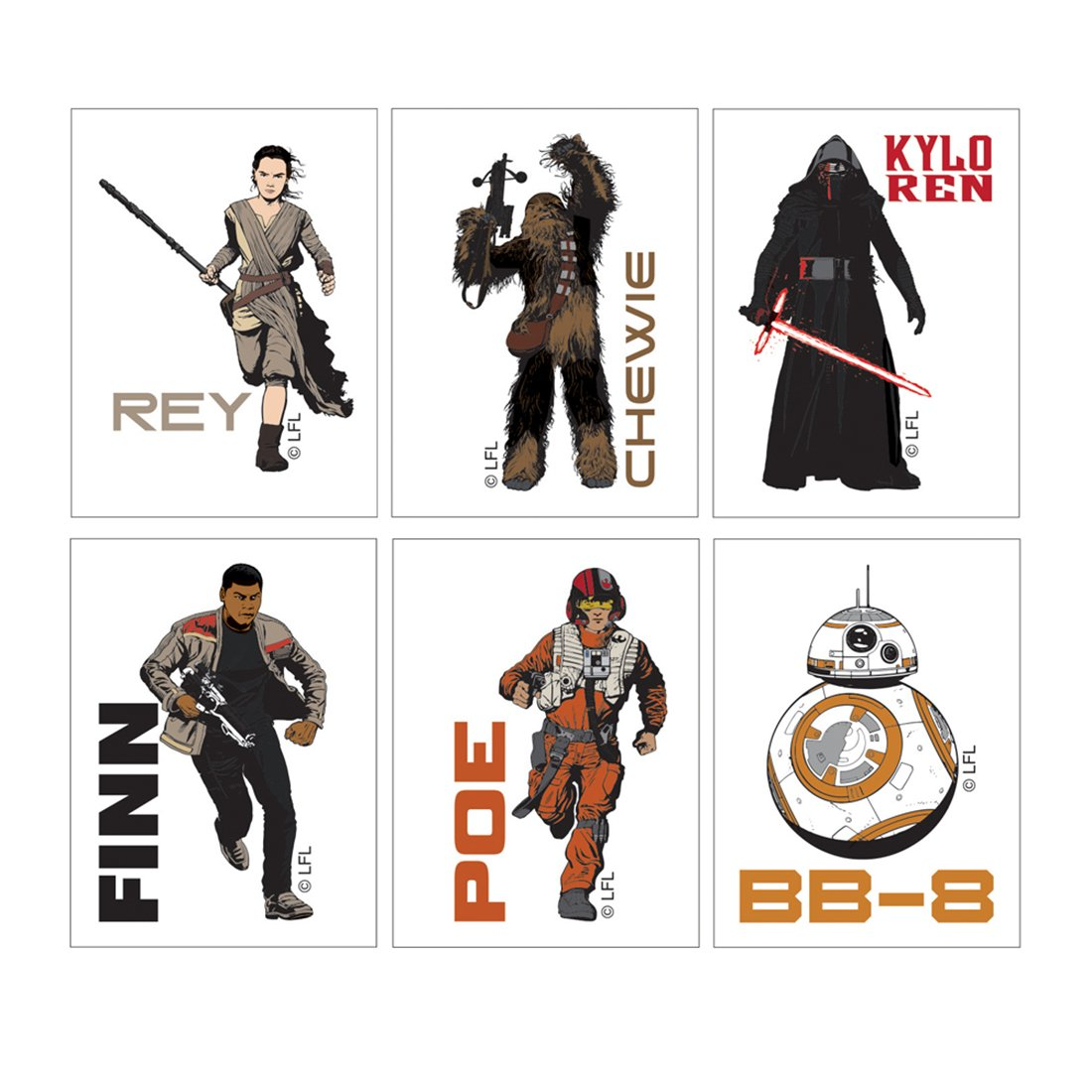 Star Wars: The Force Awakens Temporary Tattoos - Prizes 144 per Pack by SmileMakers (Image #1)