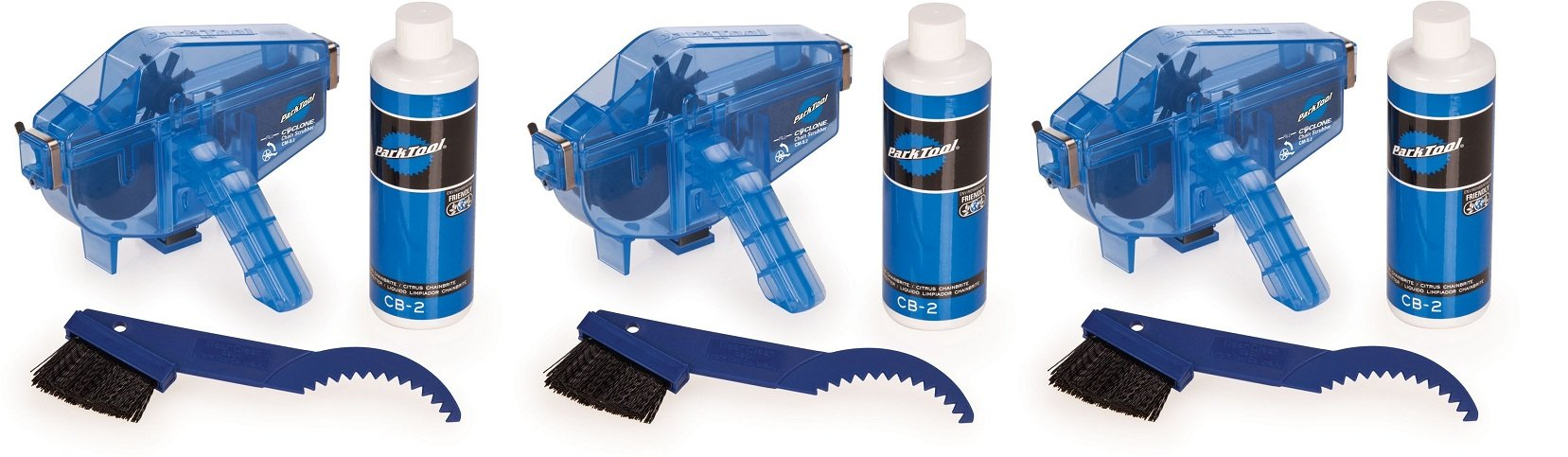 Park Tool CG-2.3 Chain Gang Chain Cleaning System Blue, One Size (3 Kits)