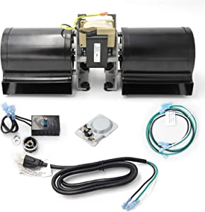 Hongso GFK-160, GFK-160A, Fireplace Blower Fan Kit with Ball Bearings Motor for Heat N Glo, Hearth and Home, Quadra Fire, GTI, Fasco, Regency Wood Stove Insert, Royal, Jakel, Nordica, Rotom