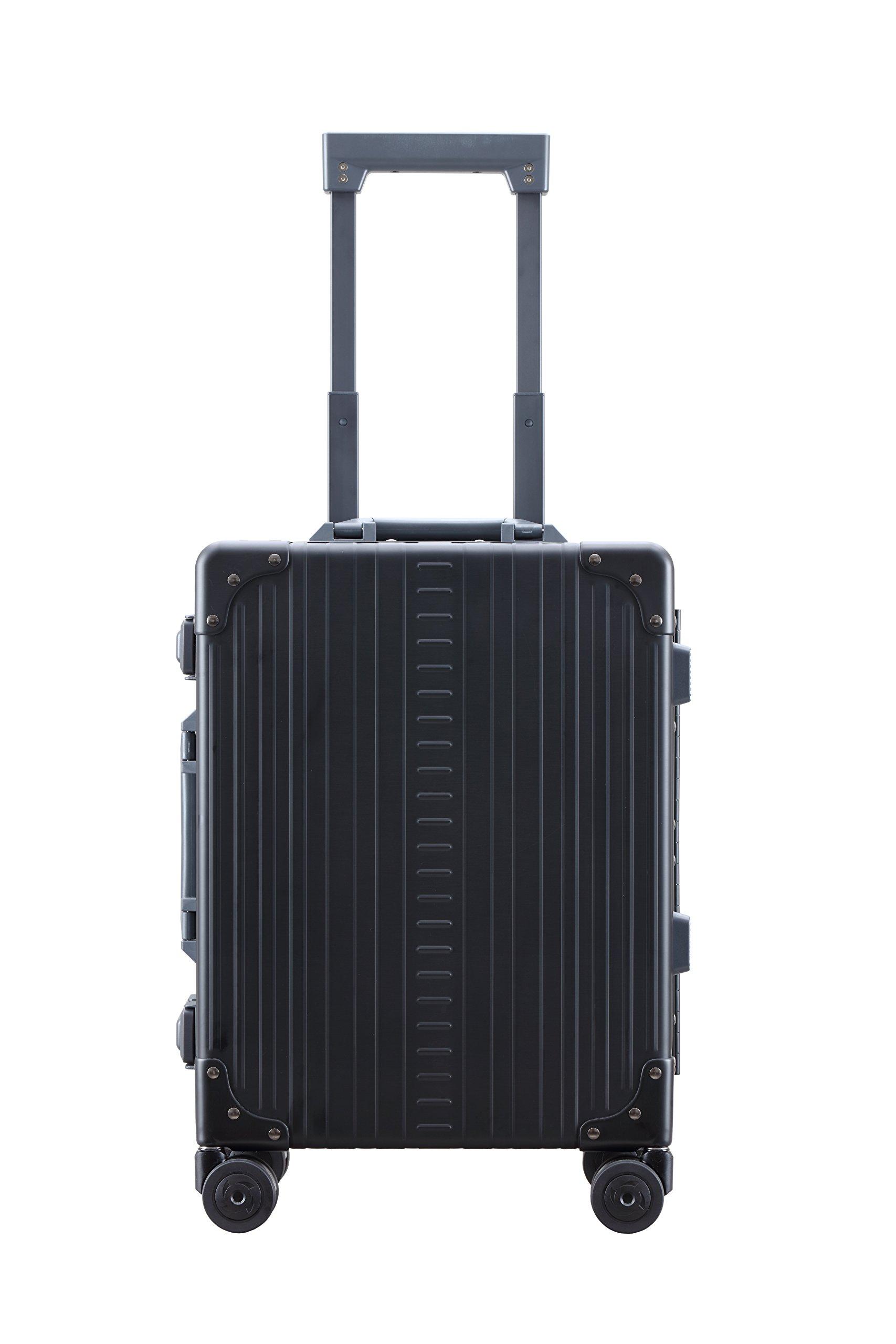 Aleon 19'' International Carry-On Aluminum Hardside Luggage (Onyx) Black