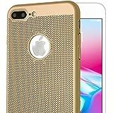 """iPhone 8plus Case, Celkase™, iPhone 8 Plus Case Mesh Ultra Slim Flexible Anti-fingerprints Shock & Scratch Resistent Back Case for Apple iPhone 8Plus -5.5""""-Gold"""