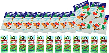 12 Sets Bulk Mini Christmas Coloring Books & Crayons Assortment Pack for  Kids