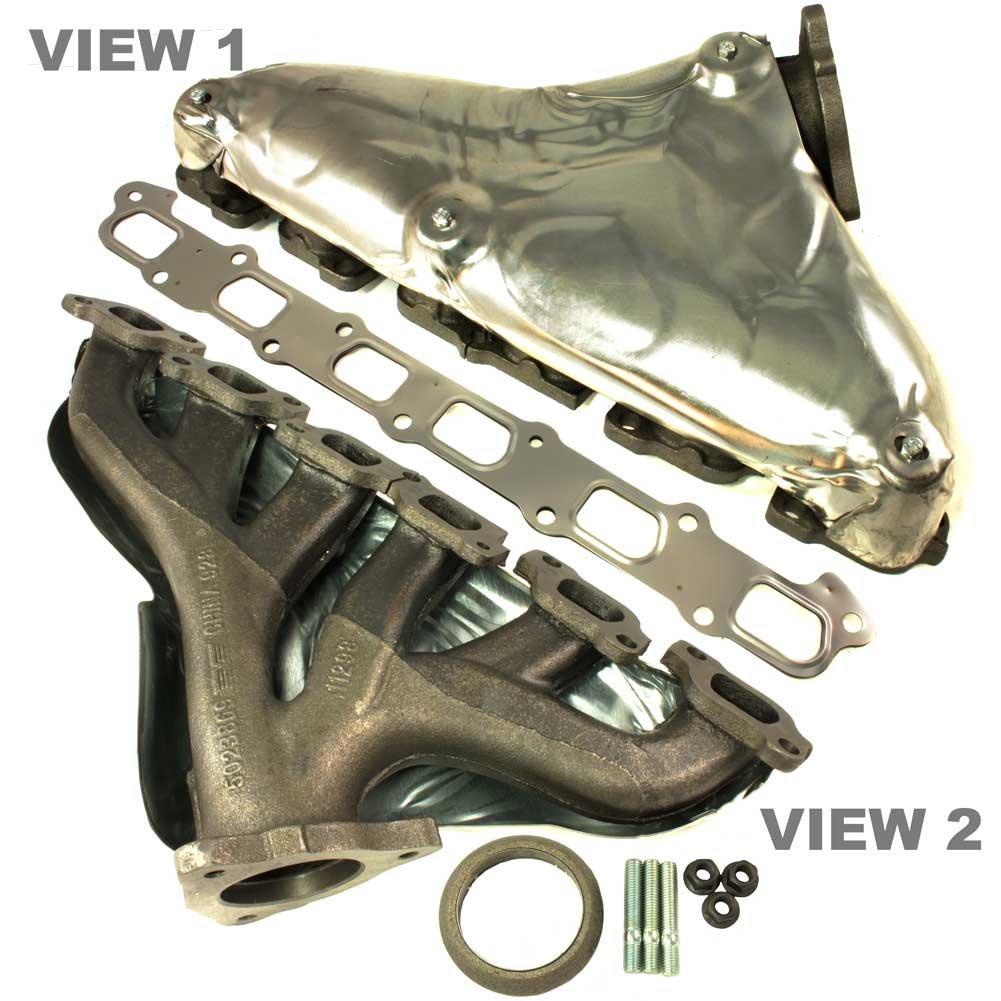 Replaces GM 12597166, 12637060, 8-12597-166-0 APDTY 785970 Exhaust Manifold w//Gaskets /& Heat Shield Fits V6 4.2L On 2008-2009 Chevy Trailblazer or GMC Envoy 2008 Isuzu Ascender 2008-2009 Saab 9-7x