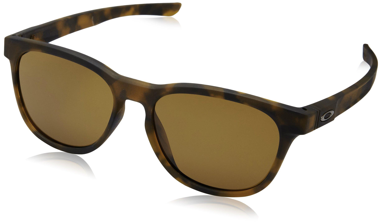Oakley Men's Stringer Rectangular Sunglasses Matte Brown Tort w/Dark Bronze 55 mm