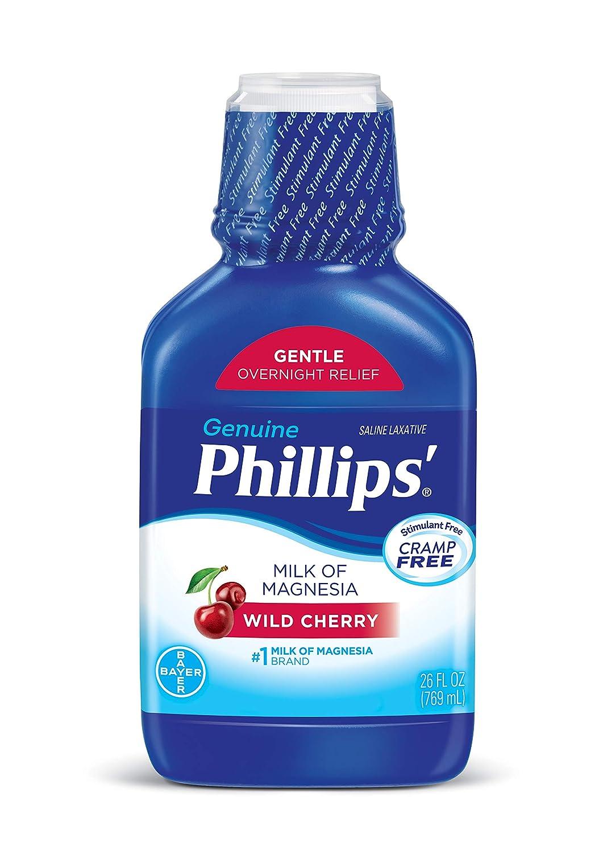 Amazon.com: Phillips Milk of Magnesia Laxative (Wild Cherry, 26-Fluid-Ounce Bottle): Prime Pantry