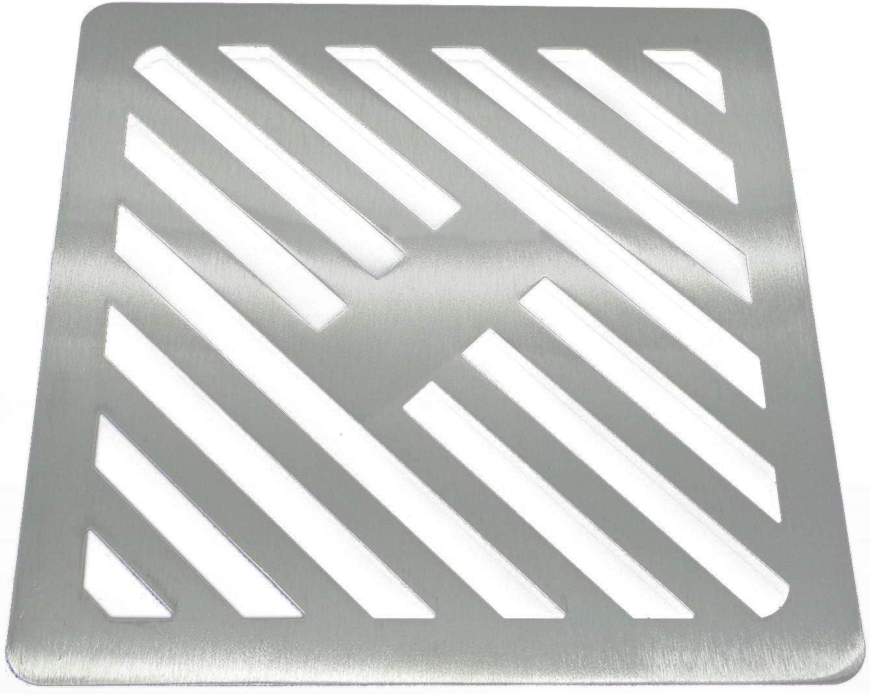 Reiben wie Gusseisen Edelstahl massiv Metall Stahl Gully Grid Heavy Duty Ablauf quadratisch 350/mm st/ärker