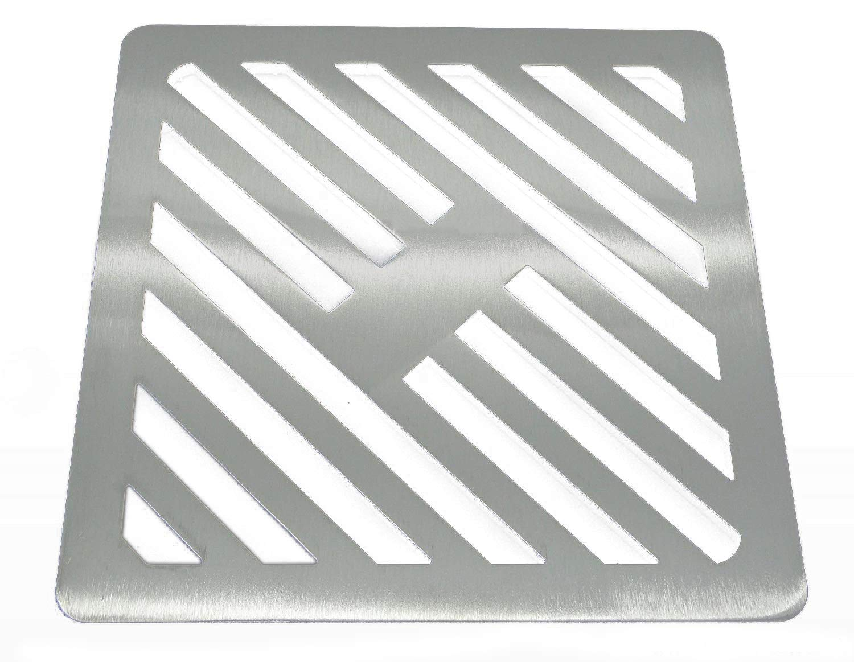 Zoll quadratische Edelstahl massiv Metall Stahl Schlucht Grid Heavy Duty Abfluss Cover ROST wie Gusseisen 21,6/cm 8/1//5,1/cm st/ärker