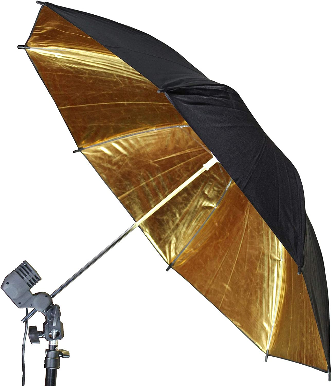 Bright Sun 1 pcs Black-Gold Umbrella Diffuser Photography Studio #BDMN