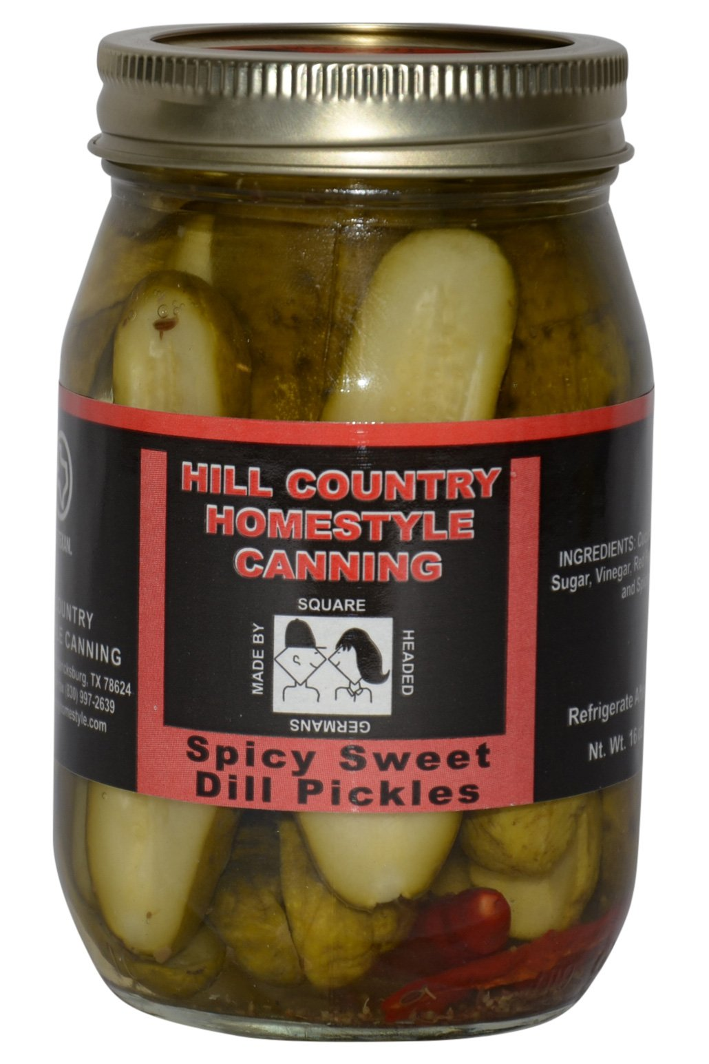Texas Hill Country Spicy Sweet Dill Pickles 16oz
