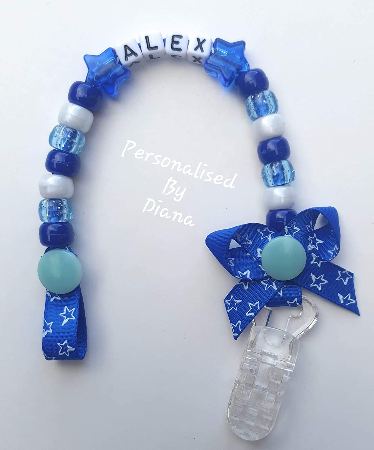 Personalised boys and girls dummy clips