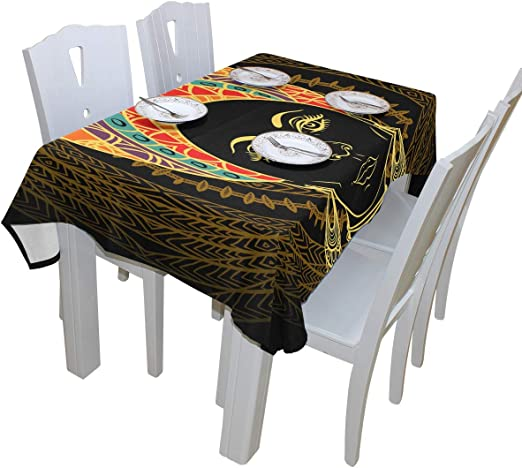 Popular African Woman Tablecloth Dining Room Kitchen Rectangular Table Cover Party Decoration Six Sizes