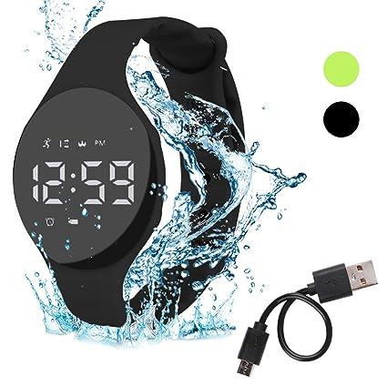 Hootracker Pulsera Actividad Impermeable IP68 Fitness Smartwatch Tracker Contador de Pasos, Contador de Calorías,Distancia niños Mujer Hombre - ...