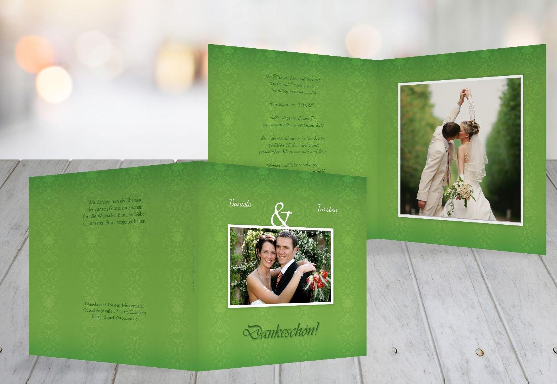 Kartenparadies Danksagung für Hochzeitsgeschenke Hochzeit Danke Eheversprechen, hochwertige Danksagungskarte Hochzeitsglückwünsche inklusive Umschläge   10 Karten - (Format  145x145 mm) Farbe  flamingoOrangerot B01N7URAHX | Modern Und