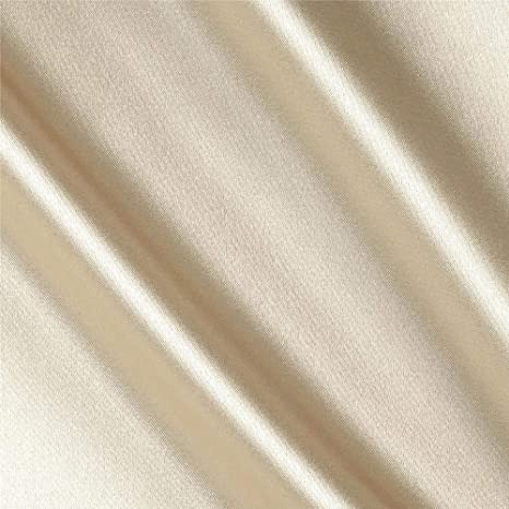 Gorgeous CHAMPAGNE IVORY Medium Sheen Medium to Heavy Weight SATIN Fabric