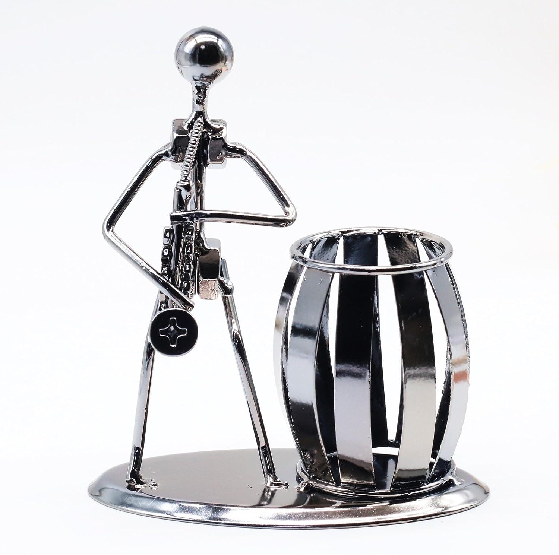 Saxophon B/üro-Desktop-Zubeh/ör Metall Bleistift Stifthalter Organisator Container Raumdekoration