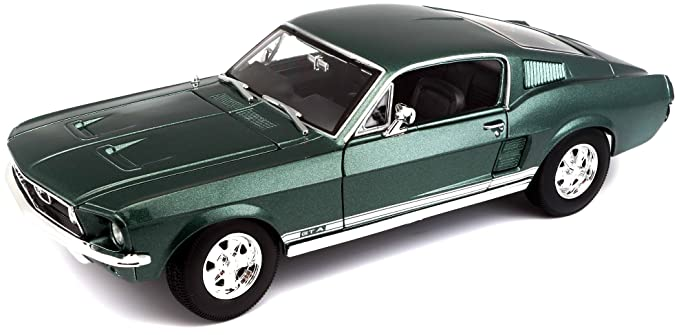 Ford Mustang Fastback >> Maisto 1 18 Scale 1967 Ford Mustang Gta Fastback Diecast Vehicle Colors May Vary