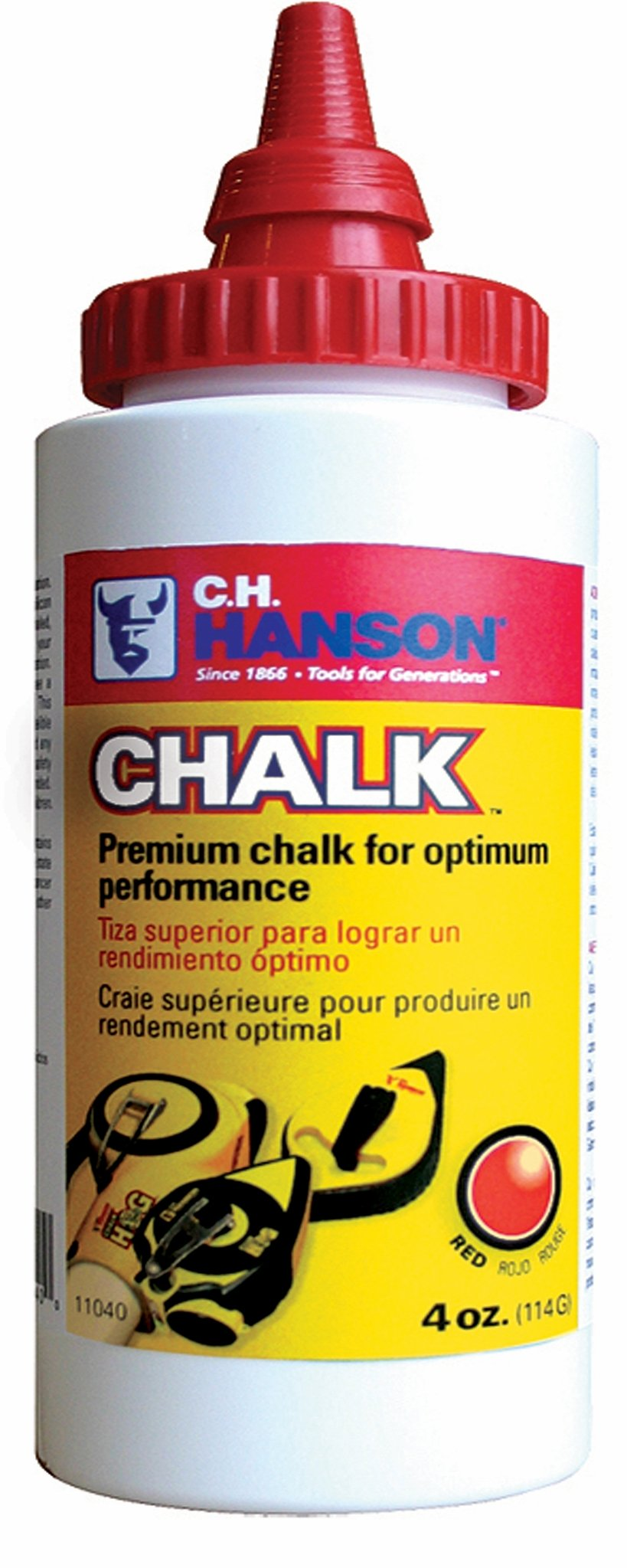 CH Hanson 11041 White 4 oz. Chalk refill