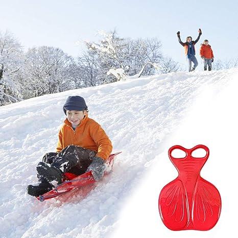 BESPORTBLE 2pcs Snow Saucer Sled Plastic Snow Sled Toboggan Snow Board Grass Sand Sled Kids Snow Slider for Winter Outdoor Random Color