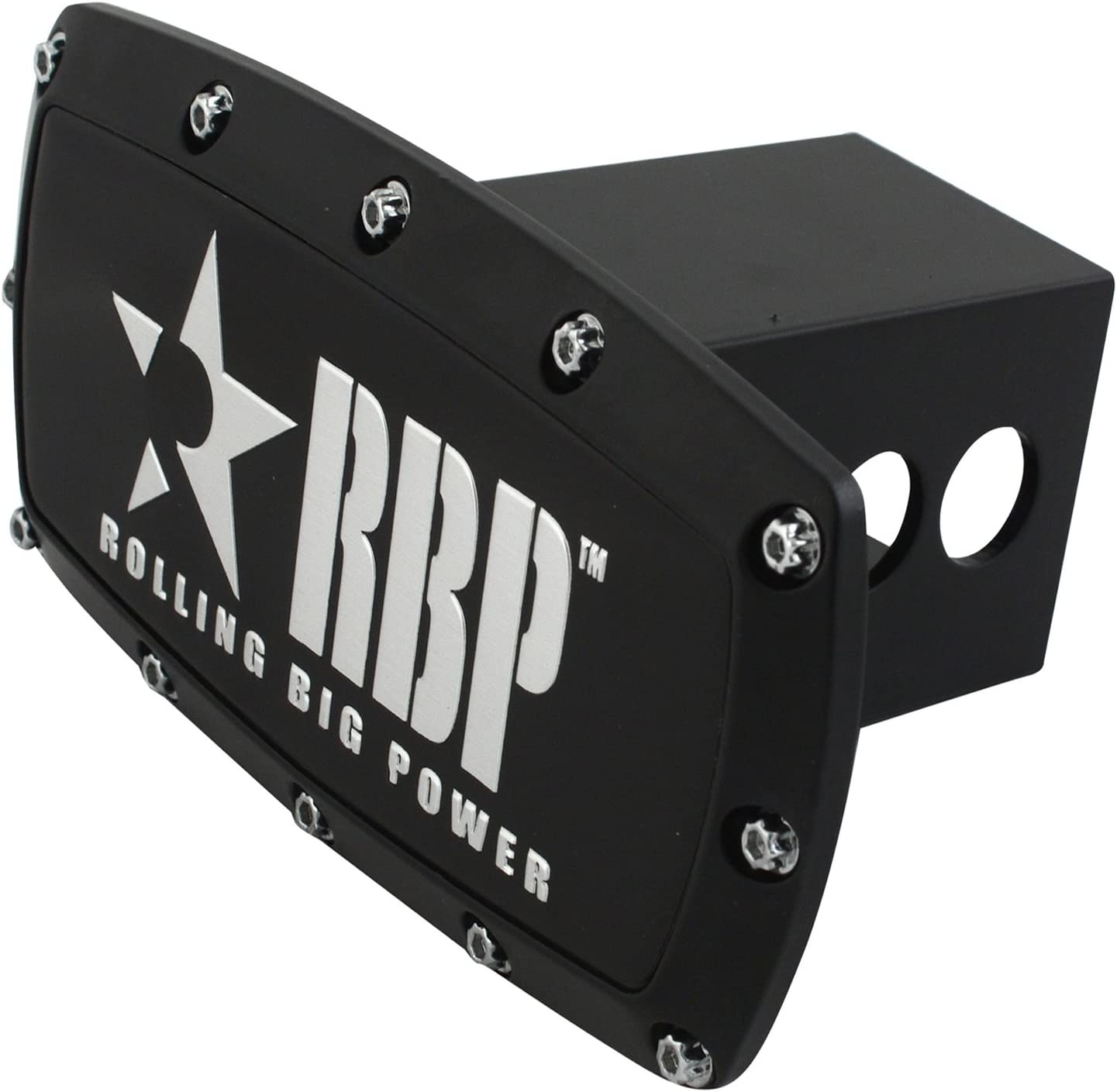 RBP RBP-7504-RX3 Black 6 x 6 Star Hitch Cover with Brushed 5 Star