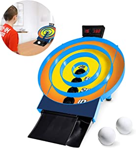 Mini Skee Ball Classic Arcade Game- Skee Ball Game For Kids Game Room Arcade Games- Skiball Game Skii Ball Arcade- Electronic Skeeball Game For Home With Ball Returner And Electronic Score Keeper
