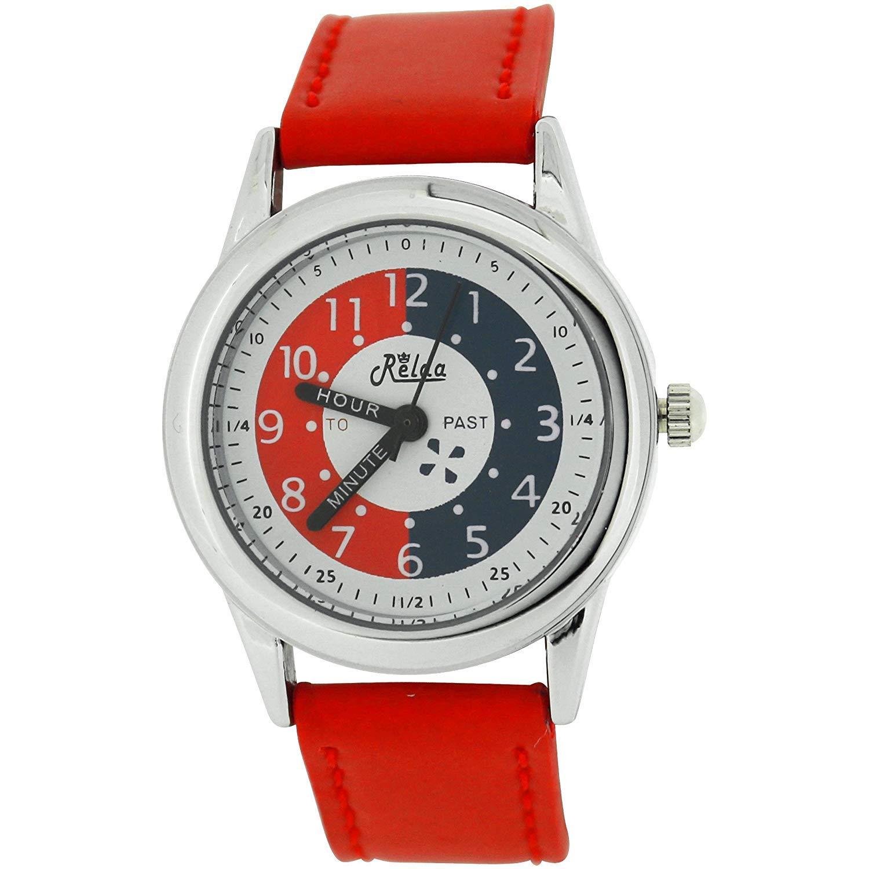 10 x bulk för skolan relda Time Teacher lila barn pojkar flickor armbandsur Award röd