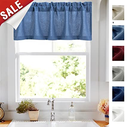 Casual Weave Tailored Valance Cafe Curtains Semi Sheer Kitchen Curtains  Privacy Half Window Curtains (54