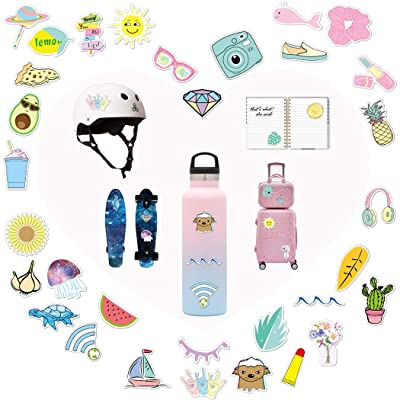 VSCO Stickers, Cute Stickers For Girl - Laptop Stickers - Water Bottle Stickers, Skateboard Stickers, Stickers for hydroflasks 35 Pcs: Kitchen & Dining