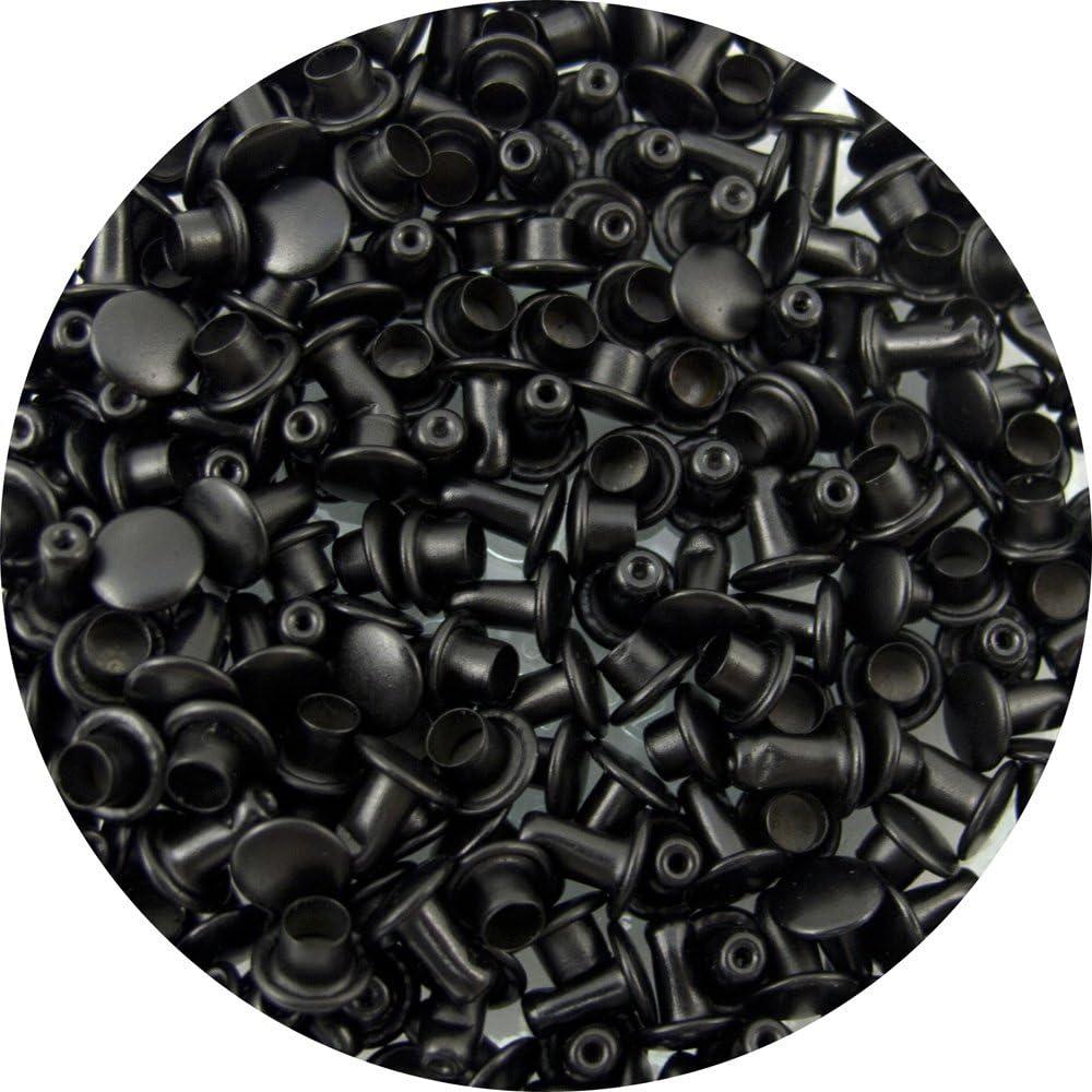 Springfield Leather Companys Black Extra Small Double Cap Rivets 100pk