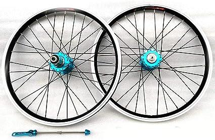 LYzpf Montaña Llantas Bicicleta Rueda Perfil Delantera Trasera Bici Rim Conjunto 20 Inch V Freno Accesorios de Equipamiento Aleación Aluminio: Amazon.es: Deportes y aire libre