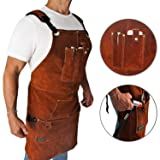 FIGHTECH Leather Work Apron with Tool Pockets for