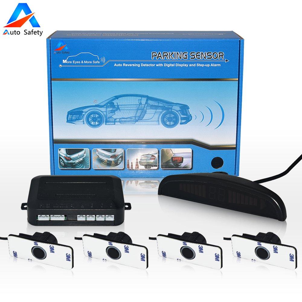 Car Reverse Backup Radar System Auto Safety Parking Garage Door Opener Reversing Sensor Wiring Diagram Kitled Dispaly Bibi Voice Alert 4 Sensors Colors Universal Vehicle