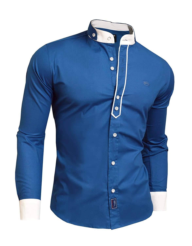 Formal Shirts For Mens Designs | D R Fashion Hemd Elegante Modische Dekorative Rand Doppel