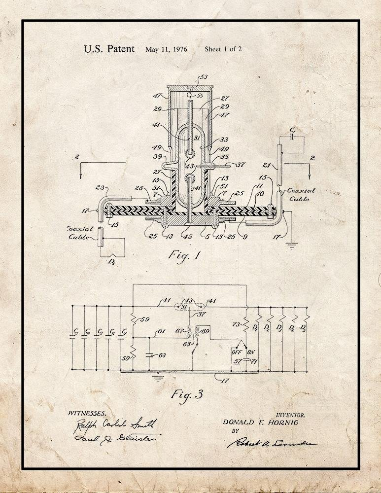 Amazon.com: Low Impedance Switch Patent Print Art Poster Blueprint with Border (20
