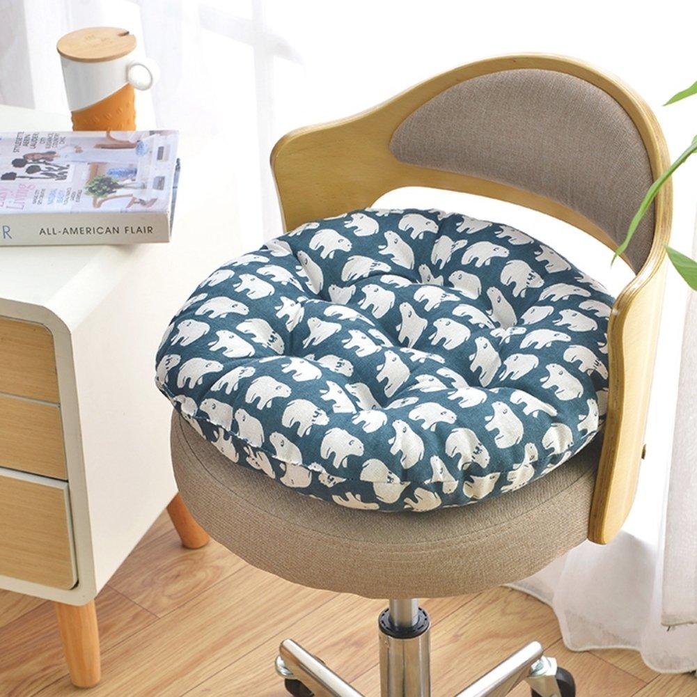 Tatami Piano Tappetino Trapuntato Sedia Cuscino Sgabello Vimini Sedia Semplice Dormitorio degli Studenti Cuscino Lavabile-A 40 cm di Diametro Yellow star Addensato Cuscino Sedile Rotondo