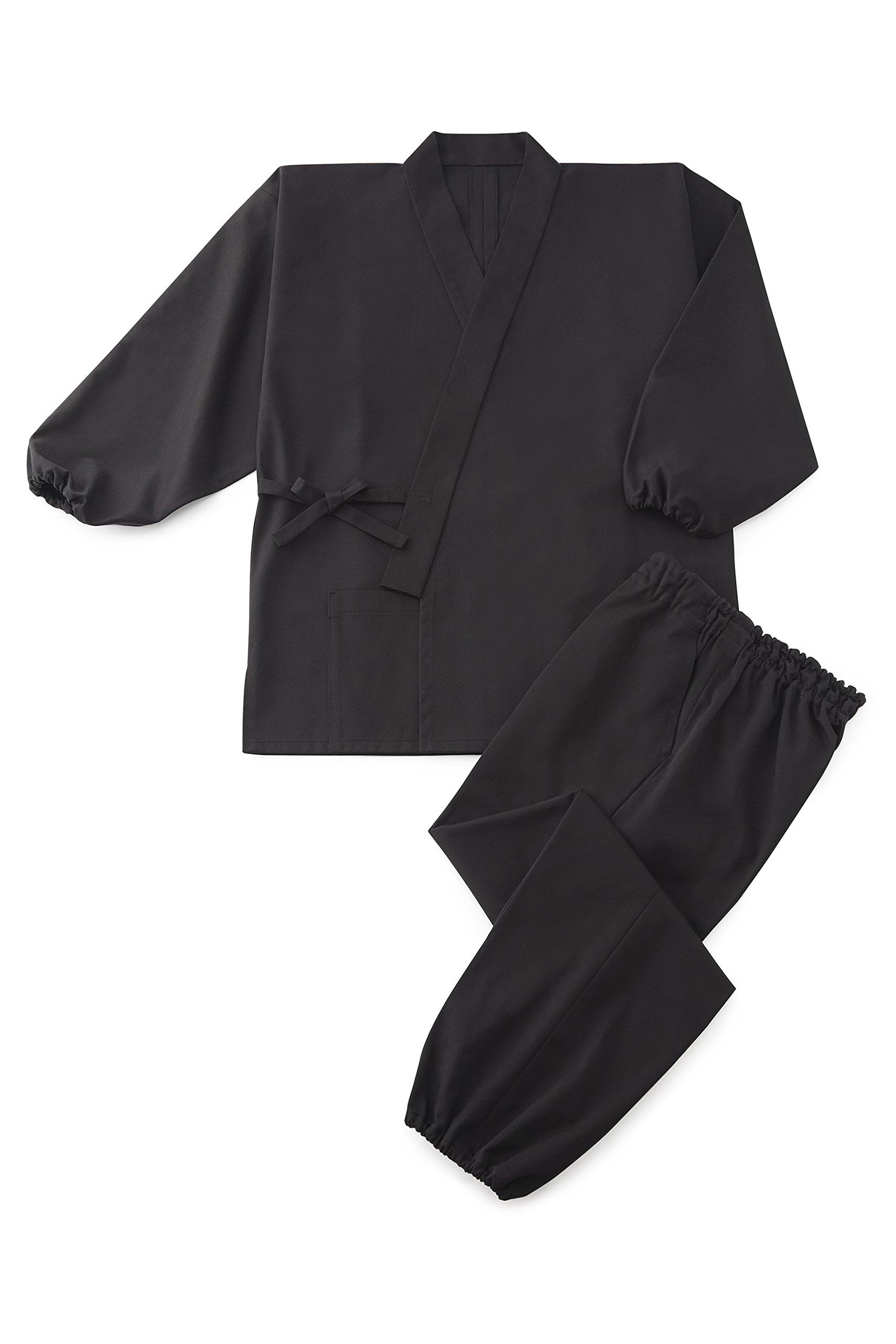 Cotton Blend Twill Samue 'JAKKOU' Black M by Tozando (Image #1)