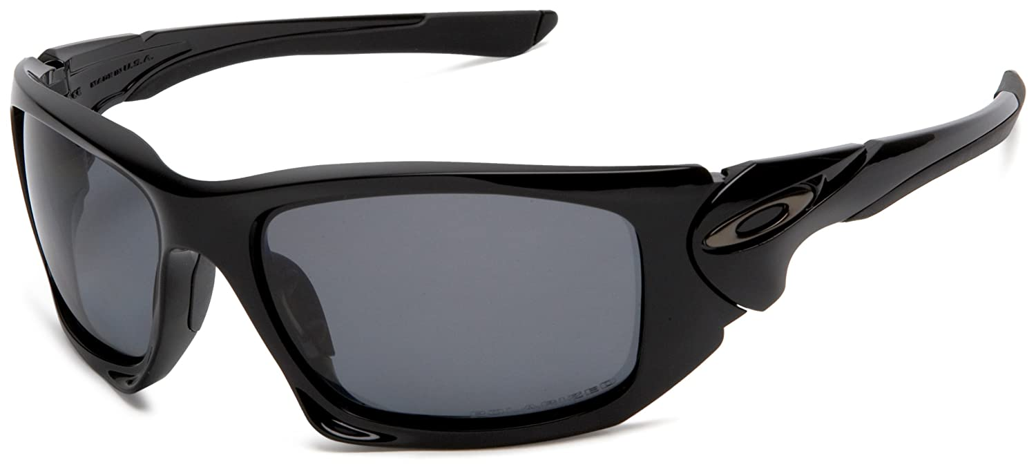 9f3b37bab Oakley Mens Scalpel Polished Black Sunglasses With Polarized Grey Lens  (OO9095-05): Oakley: Amazon.co.uk: Clothing