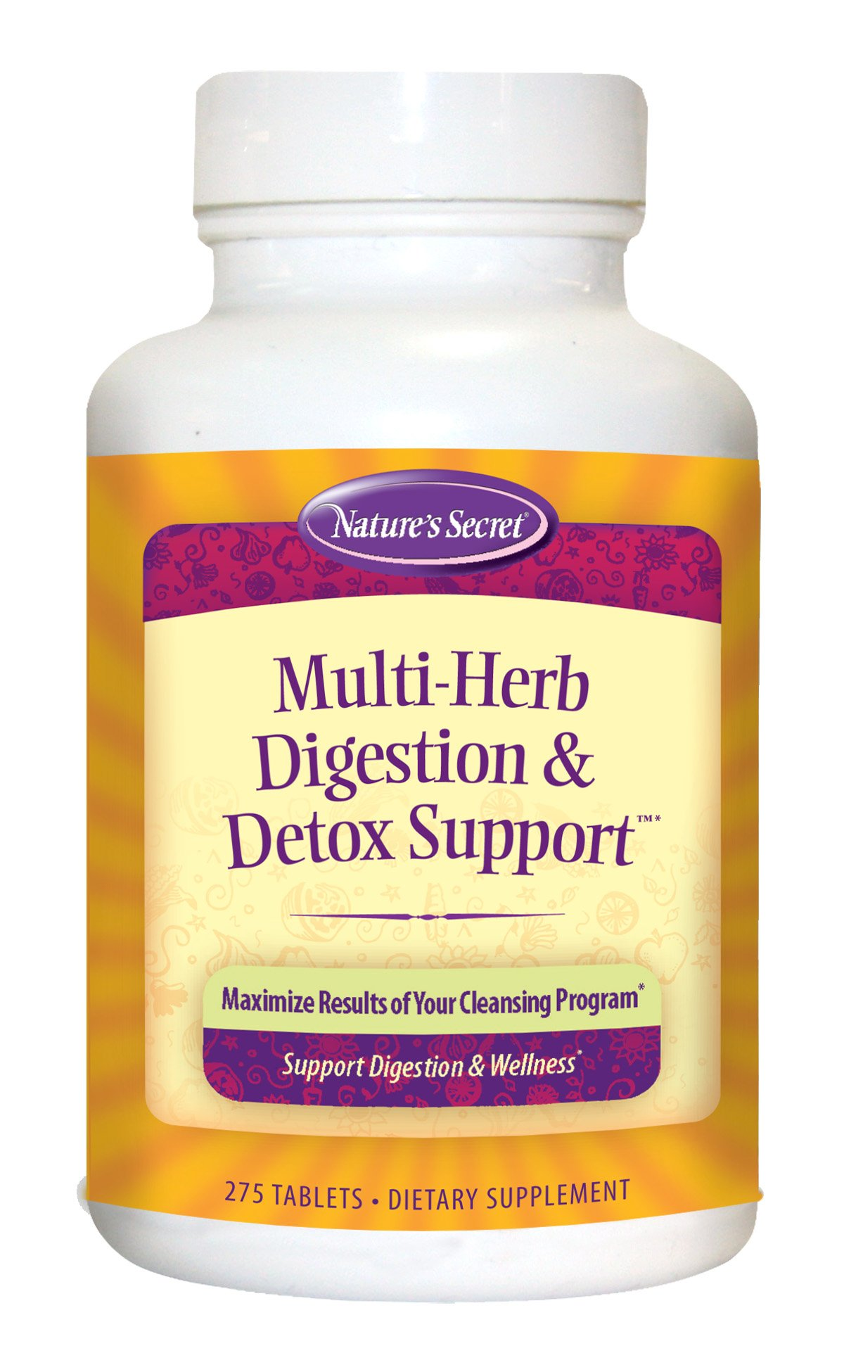 Nature's Secret Multi Herb Digestion and Detox Support Economy Diet Supplement, 275 Count