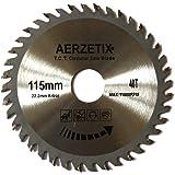 Aerzetix - Disco lama per sega circolare per legno 115 x 22,2 T40 40 denti.