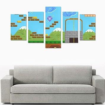 Amazon.com: Happy More Custom Retro Style 8 Bit Video Game Wall Art ...