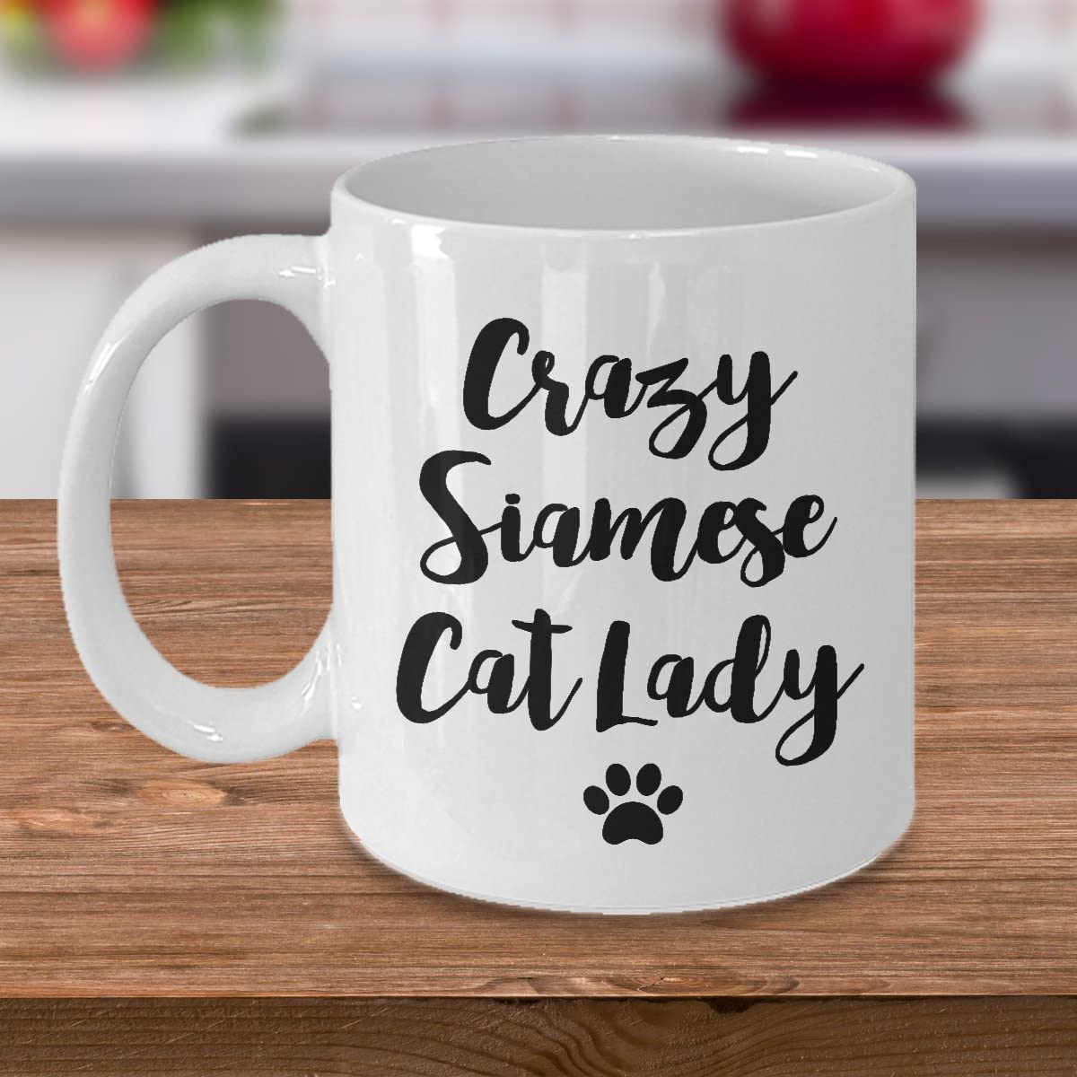 Amazon Com Siamese Cat Mug Crazy Cat Lady Funny Cat Lover Coffee Cup Gift 11 Oz Kitchen Dining