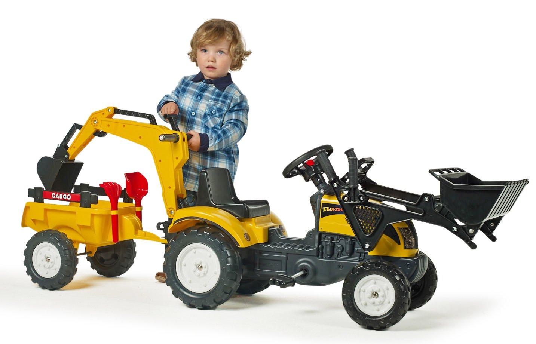 Bagger Traktor Anh/änger Lader Falk Spielzeug-Set Schaufel und Rechen verstellbar