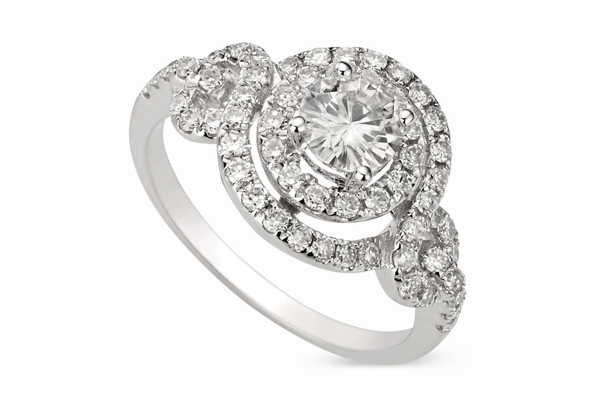 Forever Classic Round 5.5mm Moissanite Ring-size 9, 1.18cttw DEW By Charles & Colvard