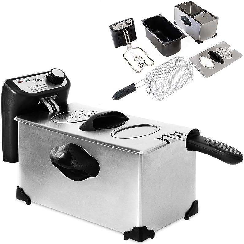 Friteuse électrique en acier inoxydable 4 litres - 2200W - avec ...