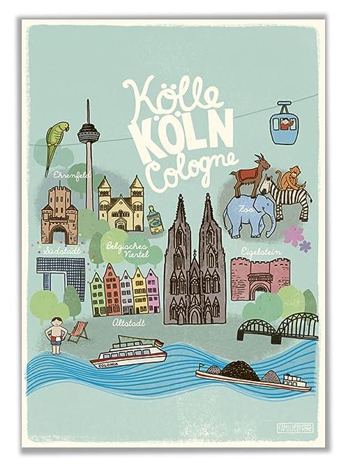 Poster Kinderzimmer Köln DIN A2: Amazon.de: Baby