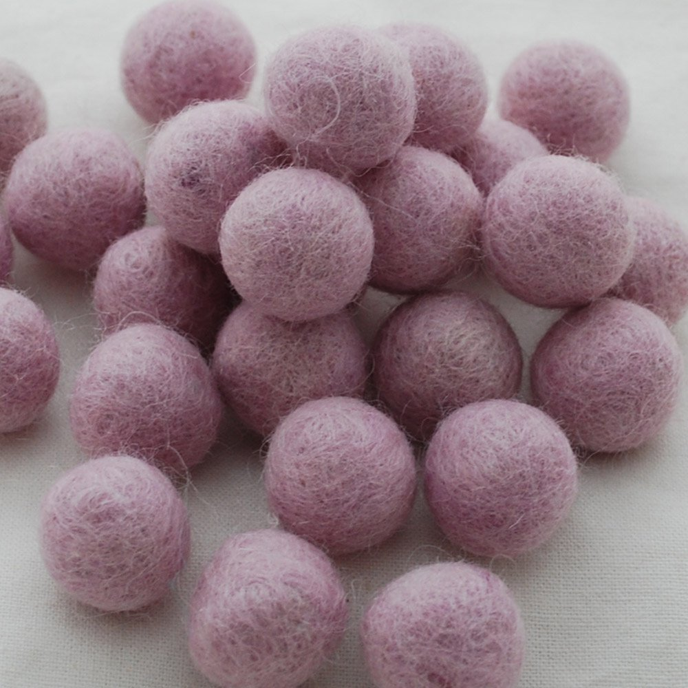 Amethyst Purple 2cm 100/% Wool Felt Balls 20 Felt Balls