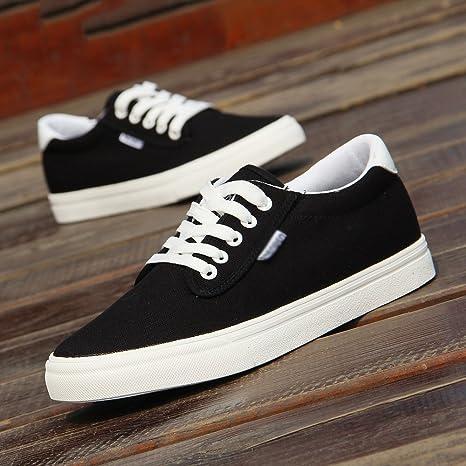 WFL Scarpe di tela bianche scarpe da uomo estate tendenza selvaggia scarpe  casual scarpe fondo piatto 8c18cb83f2f