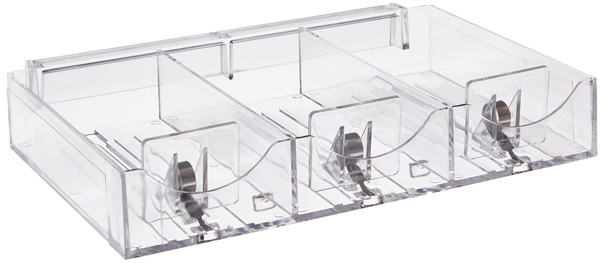 Azar Displays 225504 9.125'' W x 5.8125'' D x 1.5'' H 3-Compartment Pusher Tray (2 Pack)
